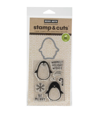 Hero Arts® Winter Penguin Stamp & Cuts