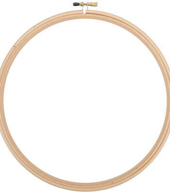 "Frank A. Edmunds Wood Embroidery Hoop w/Round Edges 12""-Natural"