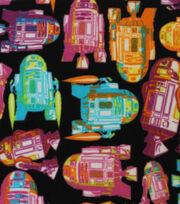 """Star Wars™ Fleece Fabric 58""""-Tossed R2D2, , hi-res"""