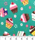 Doodles Juvenile Apparel Fabric-Cupcakes Interlock