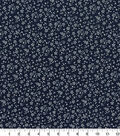 Quilter\u0027s Showcase Cotton Fabric-Flowers Navy