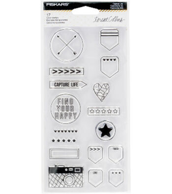 Fiskars® Teresa Collins Clear Stamps-Capture Life