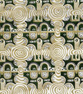 Ethnic Fabric- Grn Gold Metallic Cotton