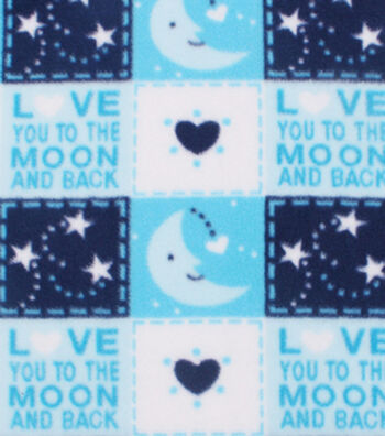 Nursery Fleece Fabric 59''-Love You to the Moon and Back Patch
