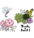 Sizzix™ Framelits™ Jen Long Dies with Stamps-Blooming Cactus