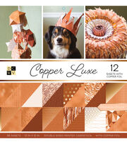DCWV Pack of 12 12''x12'' Premium Printed Cardstock Stack-Copper Luxe, , hi-res