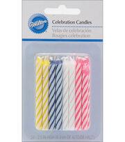 Wilton® Cele 24pk Asst Candle, , hi-res