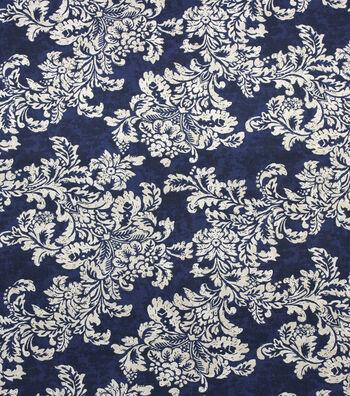 """Home Essentials Print Fabric 45""""-Symphonic Indigo"""