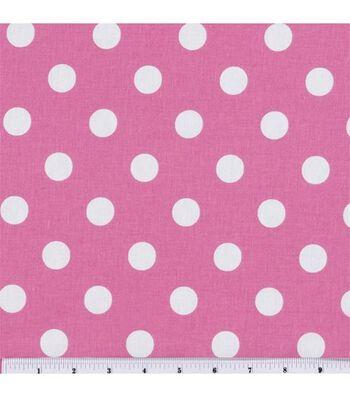 "Keepsake Calico™ Cotton Fabric 44""-Large Dots On Rose Pink"
