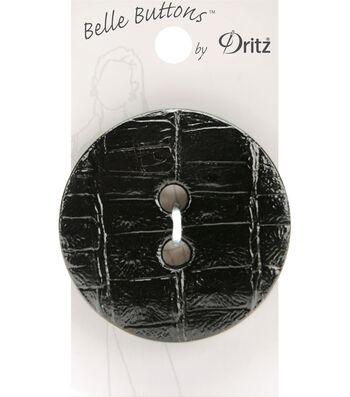 Belle Button-Crock Skin, Black  53Mm