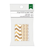 American Crafts™ Holiday Washi Tape-Gold Chevron & Narrow Chevron, , hi-res
