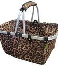 JanetBasket Large Aluminum Frame Basket 18\u0022X10\u0022X9.5\u0022-Leopard