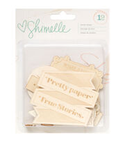Shimelle Wood Veneer Shapes 12/Pkg-, , hi-res