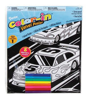 "Color-In Velvet Poster 16""X20""-Race Scene, , hi-res"