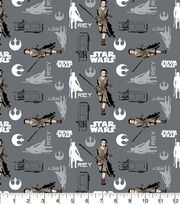 "Star Wars™ Cotton Fabric 44""-Rey in Iron, , hi-res"