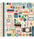 Carta Bella It\u0027s A Celebration Cardstock Stickers Element