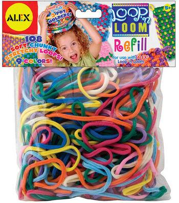 Alex Toys Loop 'n Loom Refill-108PK/Multi Colors