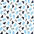 Babyville Laminate Waterproof Fabric 9.5\u0022-Pirate Print