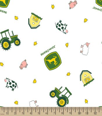 John Deere Nursery Farm Toss Print Fabric