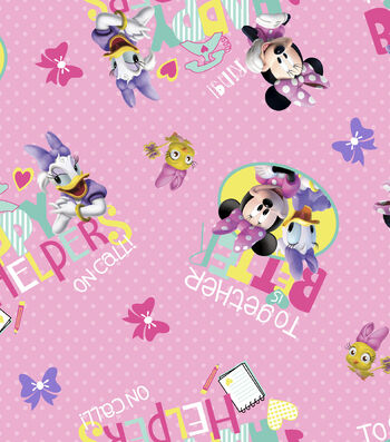 Disney® Minnie Mouse Cotton Fabric 43''-Happy Helpers