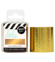 "Heidi Swapp Lightbox Tape 2""X3yds-Gold Foil, , hi-res"