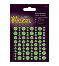 Papermania 80ct Neon Shimmer Dome Stickers
