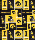 University of Iowa Hawkeyes Fleece Fabric 58\u0027\u0027-Block