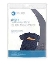 "Silhouette Printable Heat Transfer Material 8.5""X11"" 5/Pkg-For Dark Fabrics, , hi-res"