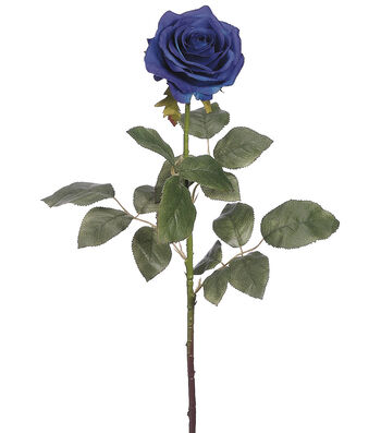 Bloom Room 27.5'' Confetti Rose Stem-Blue