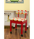 Arrow Multi-Color Hexagon Sewing Chair-Red