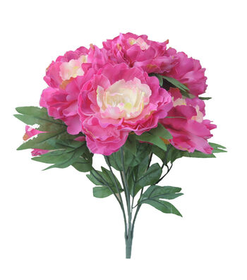 "Bloom Room 19.5"" Peony x10 Bush-Fuchsia"