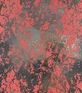 Keepsake Calico Cotton Fabric 43\u0027\u0027-Coral & Metallic Crackle