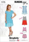 Simplicity Pattern 1175AA 8-10-12-14-Girls