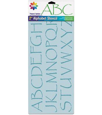 "Delta Stencil Magic 2"" Letter Design Stencils-Papyrus Alphabet"