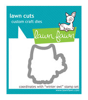 Lawn Fawn Lawn Cuts Custom Craft Die-Winter Owl, , hi-res