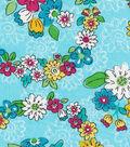 Keepsake Calico Cotton Fabric-Eliza Floral Circle Blue