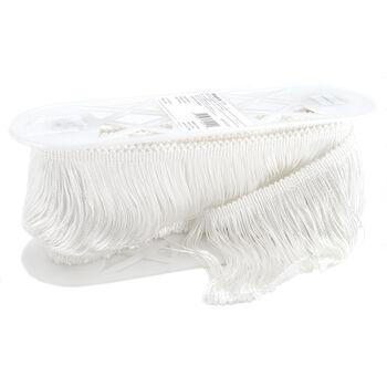 "Polyester Fringe 4"" Wide 9 Yards-White"