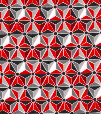 "Snuggle Flannel Fabric 42""-Geometric Red"