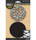 Chalk it Now - Pattern Scallop Die-Cut Cardstock