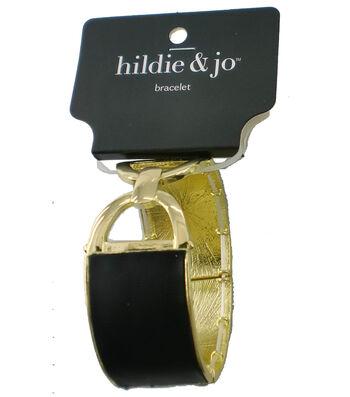 hildie & jo™ Stretch Buckle Bracelet-Gold & Black