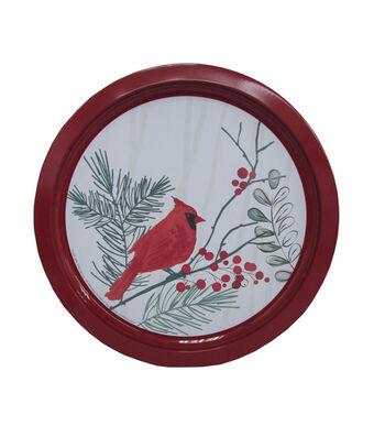 Maker's Holiday Christmas Cookie Platter-Cardinal