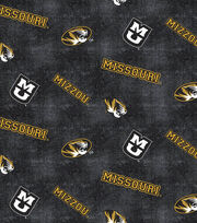 "University of Missouri Tigers Flannel Fabric 42""-Distressed Logo, , hi-res"