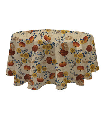 Fall Into Color 60''x60'' Round Tablecloth-Harvest