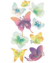 Jolee's Boutique Le Grande Dimensional Sticker-Vellum Butterflies, , hi-res