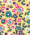 Keepsake Calico Cotton Fabric 43\u0022-Tropical Floral On Lime