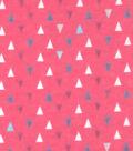 Snuggle Flannel Fabric 42\u0022-Gypsy Pink Triangles