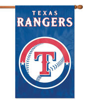 Texas Rangers Applique Banner Flag, , hi-res