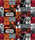 Star Wars VII Characters In Squares Fleece Fabric