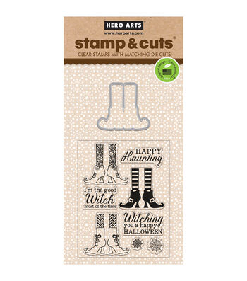 Hero Arts® Witch Feet Stamp & Cuts