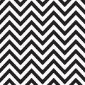 Canvas Corp Printed Single-Sided Black  & White Chevron Reverse Cardstock